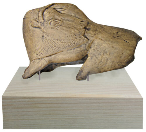 Bison from La Madeleine with pedestal  - casts of resin