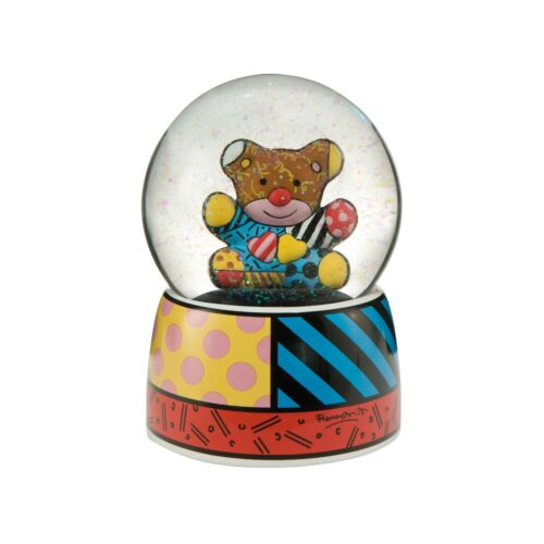 """Romero Britto: Original Porcelain Snow Dome """"TRULY YOURS"""", new, free shipping"""