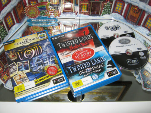 """PC CD-ROM GAMES """"THE VOID"""" & """"SHADOW TOWN"""" & """"INSOMNIAC"""" (LIKE NEW)"""