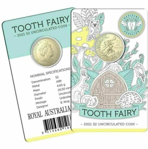 2021 $2 TOOTH FAIRY in card of issue. Sold out before issue date. Sent tracked