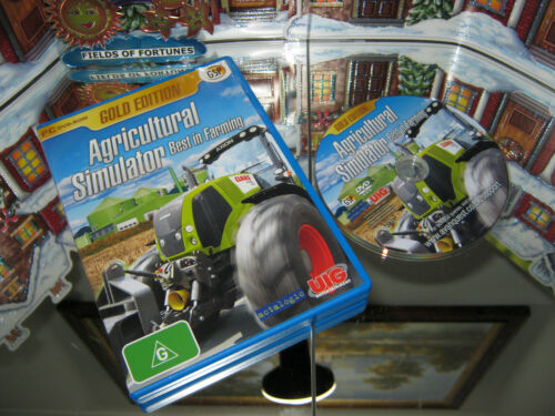 """PC CD-ROM GAMES """"AGRICULTURAL SIMULATOR BEST IN FARMING""""  (NEW)"""
