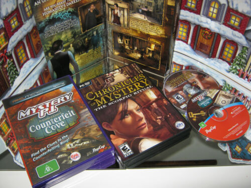 "PC CD-ROM GAMES ""COUNTERFEIT COVE & CHRONICLES OF MYSTERY "" (NEW)"