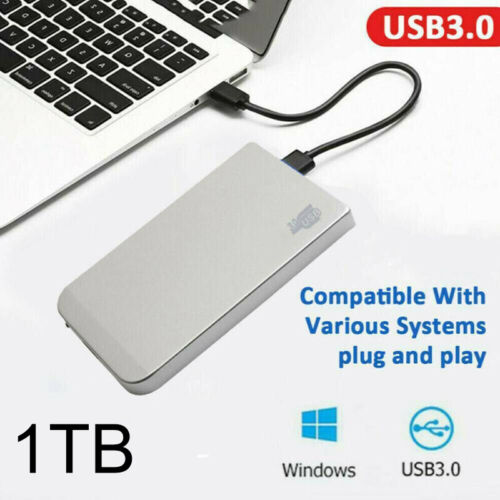 External Mobile Hard Drive 1TB HDD USB 3.0 2.5'' HD Disk SATA Fit For Laptop PC