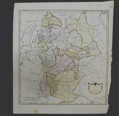 "1790 Thomas Stackhouse map, entitled ""Russia in Europe,"" ., B-004"