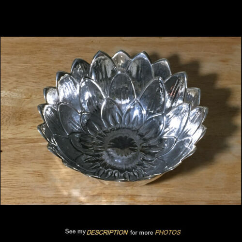 Meriden Britannia Company Floral Sterling Silver BOWL blooming flower 5.55 toz