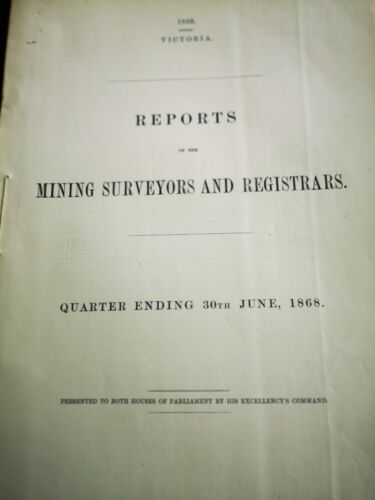 1868 Report--mining Surveyors And Registras