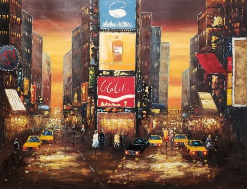 New York #2,  36x48, 100% Hand painted Oil Painting on Canvas
