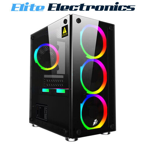 1st Player Firebase X2 M-ATX Tempered Glass PC Gaming Case