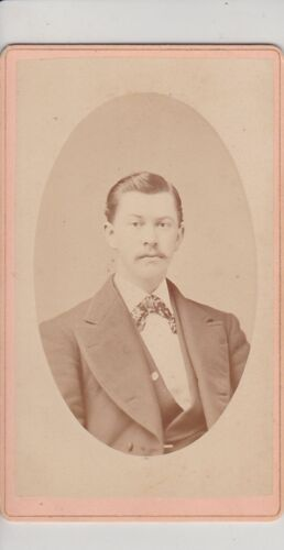 SAN FRANCISCO, CA. HANDSOME MAN WITH MUSTACHE. ANTIQUE CDV BY NEW YORK GALLERY
