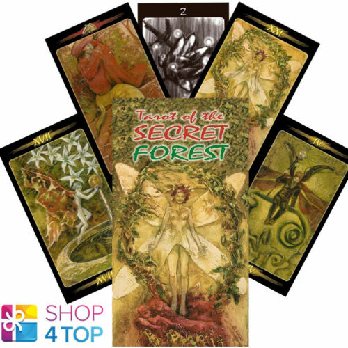 Tarot of the SECRET FOREST Deck Tarjetas Mattioli Esoteric Contar lo scarabeo De