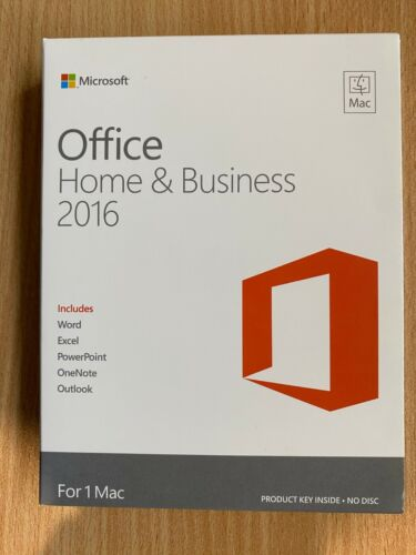 Microsoft Office Home and Business 2016 - 1 MAC (Retail) - Used