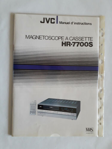 manuel d'instructions magnétoscope a cassette HR-7700 s