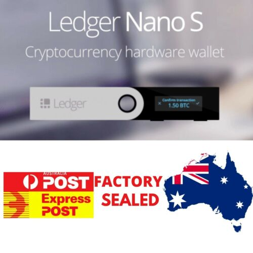 LEDGER NANO S Cryptocurrency Hardware Wallet BTC Ethereum Altcoins **IN STOCK**