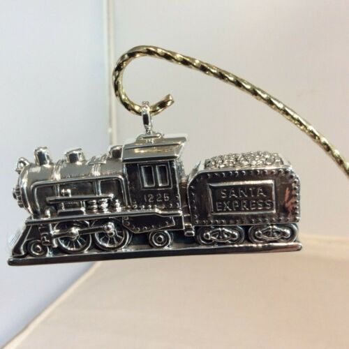 2019 Sterling Collectables Santa Express Sterling Silver Train Ornament #10493