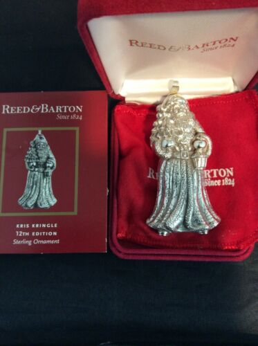 Reed & Barton  Kris Kringle (12th Edition) Sterling Ornament  #1904