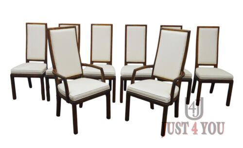 Henredon Set of 8 Oak Dining Chairs