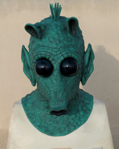 Greedo mask -Rodian mask and hands -SW latex high quality