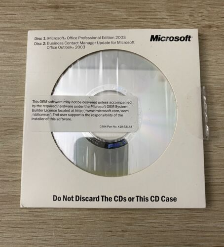 Microsoft Office Professional Edition 2003 with Business Contact Manager +CD Key