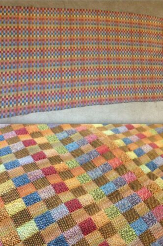 ALEXANDER GIRARD FABRIC Large Vintage Multi-Color Pink Purple Orange Blue Green