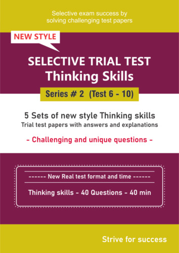 Selective Trial Test Papers -- Thinking skills (Series # 2) -- 5 Papers