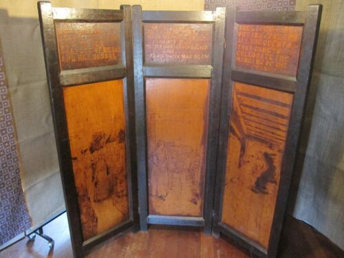 Rare Antique Mission Style Hand Carved  Room Divider