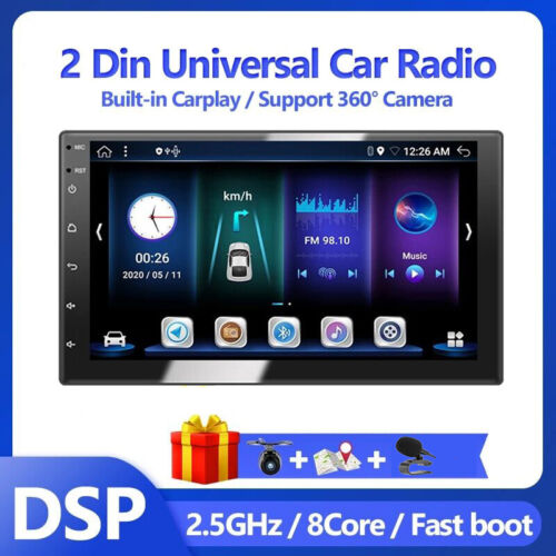 7Inch Android 10.0 Head Unit Car Stereo Radio 2DIN CarPlay+DSP Bluetooth 5.0 RDS
