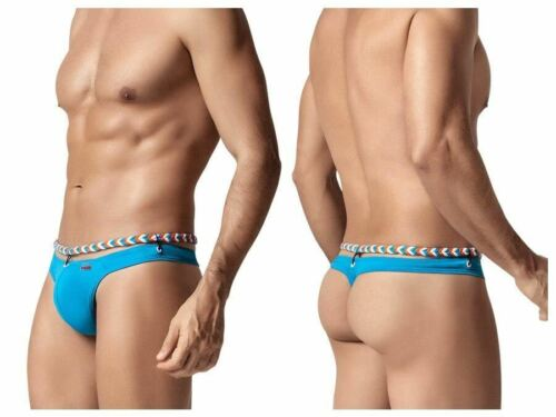 Mens Cygnus Thong with Braided Top Blue