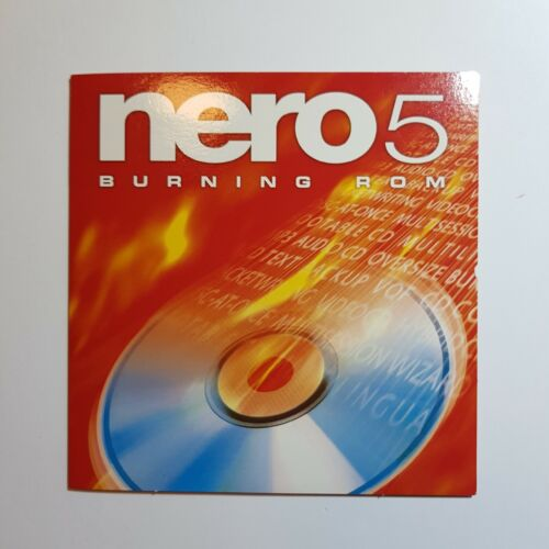 Nero 5 CD Burning software ROM installation CD by Ahead software, for Windows