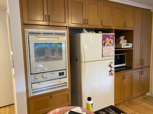 Used timber kitchen for a holiday house