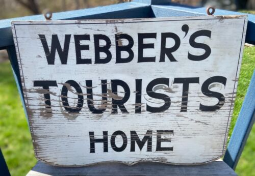 Old Tourist Home sign original untouched Maine 1920-30's double sided rare find