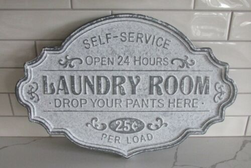 Galvanized Metal LAUNDRY ROOM SIGN*Primitive/French Country Home/Farmhouse Decor