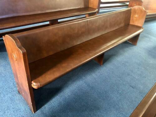 Vintage Church Pews Timber Furniture Solid Silky Oak Antique Bench Chairs Dining