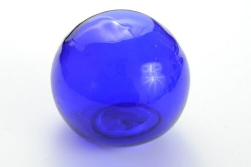 """REPRODUCTION COBALT BLUE GLASS FLOAT FISHING BALL 3"""" F-454A"""