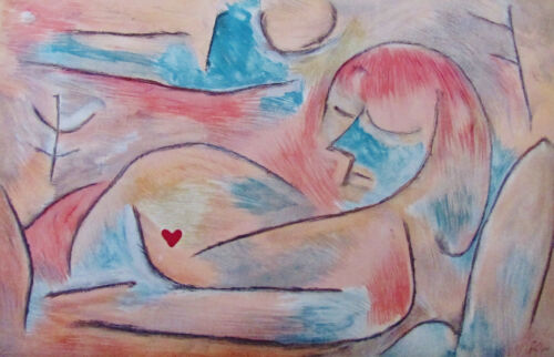 """PAUL KLEE - """"Sommeil d'Hiver"""" - ORIGINAL LITHOGRAPH FROM VERVE 1938 - FREE SHIP"""