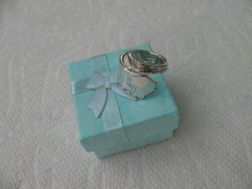 TIFFANY Sterling Silver spoon RING s 6 MARQUISE Jewelry