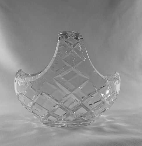 Cut Glass Crystal Basket. Please enquire for postage costs
