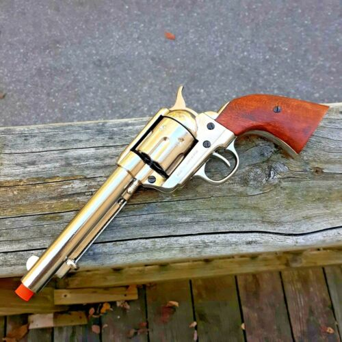 Denix 1873 Peacemaker Revolver 45 Replica Simulated Firing and Loading NickelReproductions - 156384