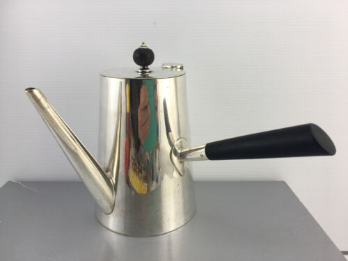 MAPPIN & WEBB PRINCE'S PLATE CHOCOLATE POT WITH EBONIZED HANDLE & FINIAL c1910