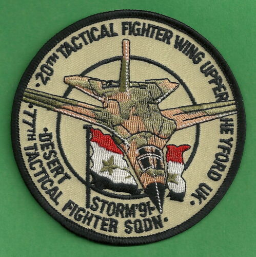 USAF 77TH TACTICAL FIGHTER SQUADRON OPERATION DESERT STORM PATCHOriginal Period Items - 10953