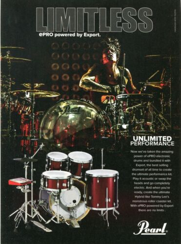 2014 Print Ad of Pearl ePRO Electronic & Export Hybrid Drum Kit w Tommy Lee