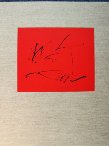 ROBERT MOTHERWELL - TRES POEMS COVER  - ORIGINAL LITHOGRAPH 1987 - FREE SHIP US