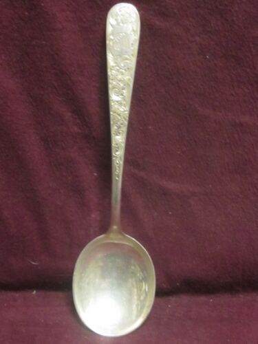 """S Kirk & Son STERLING OLD MARYLAND ENGRAVED SOUP SPOON 6 3/8"""" 39g monogram EIW"""