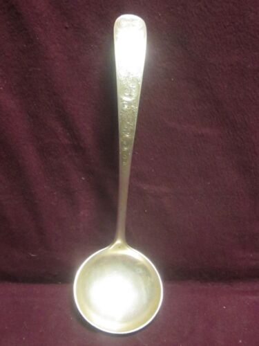 """S Kirk & Son STERLING OLD MARYLAND ENGRAVED GRAVY LADLE  6 7/8"""" 65g  mono EIW"""