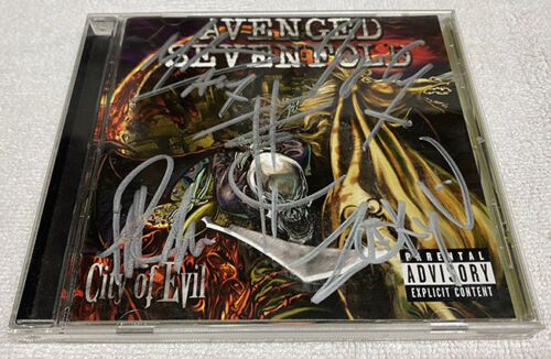 Avenged Sevenfold City of Evil Signed CD Autographed Bat Country