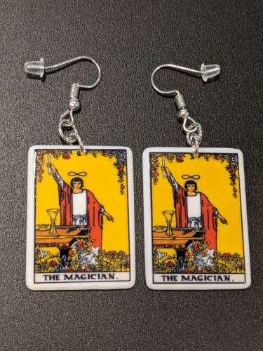 Tarot Card The Magician Gothic Witch Alternative Earrings