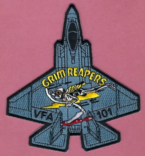 VF-101 GRIM REAPERS U.S. NAVY FIGHTER SQUADRON PATCHOriginal Period Items - 10953