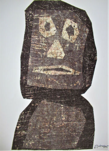 JEAN DUBUFFET - PERSONAGE - ORIGINAL LITHOGRAPH - 1957 -  FREE SHIP IN US  !!!