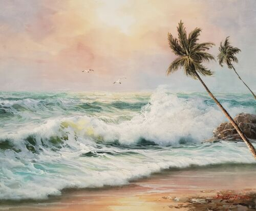 Seascape - #7,  20x24,100% Hand Painted Oil Painting on Canvas