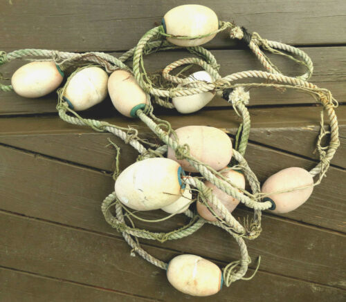 """Spongex Fishing Net FLOATS 5"""" (11) Faded SWAG 19 ft. Looped Ends Pacific NW"""