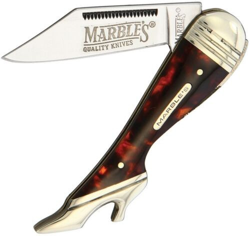Marbles Small Leg Folding Knife Stainless Blade Imitation Shell Handle 208